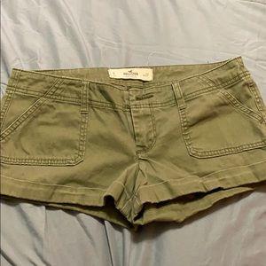 Hollister Olive Green Khaki Shorts